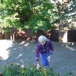 На прополке цветов в пансионате